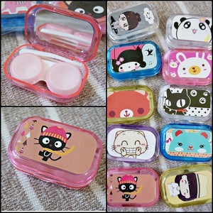 Cartoon Lens Case kit (with Mirror) - Ohmykitty Online Store
