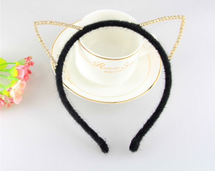 Chic Diamond Cat Ears Hairband - Ohmykitty Online Store