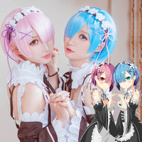 Re:Zero- Rem and Ram - Cosplay Wig (Includes Hair Accessories) - Ohmykitty Online Store