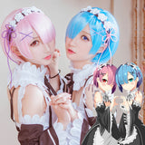 Re:Zero- Rem and Ram - Cosplay Wig (Includes Hair Accessories)