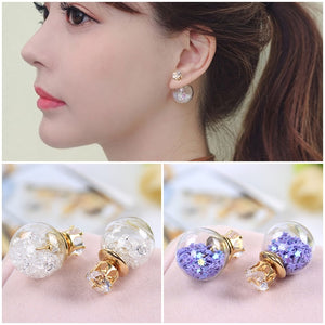 Crystal Magical Ball Stud Earrings - Ohmykitty Online Store