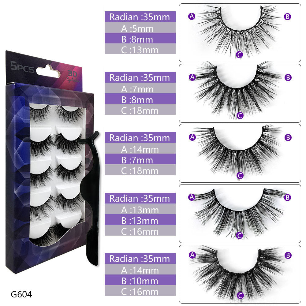 5 different High Volume Premium Quality Lashes (Includes Eyelash Applicator)