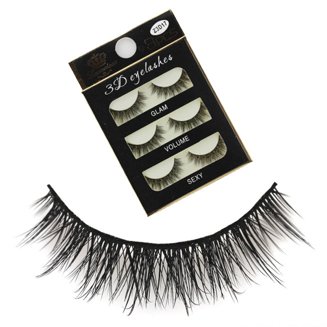 3D Volumizing Top Eyelashes (3 pairs) Type A - Ohmykitty Online Store