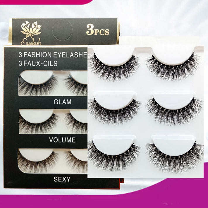 3D Volumizing Top Eyelashes (3 pairs) Type Y13