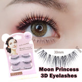Moon Princess 3D False eyelashes 3 Pairs (Natural) - Ohmykitty Online Store
