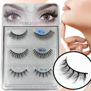 3 different Multi-Length Lightweight False Lashes (3D1A)