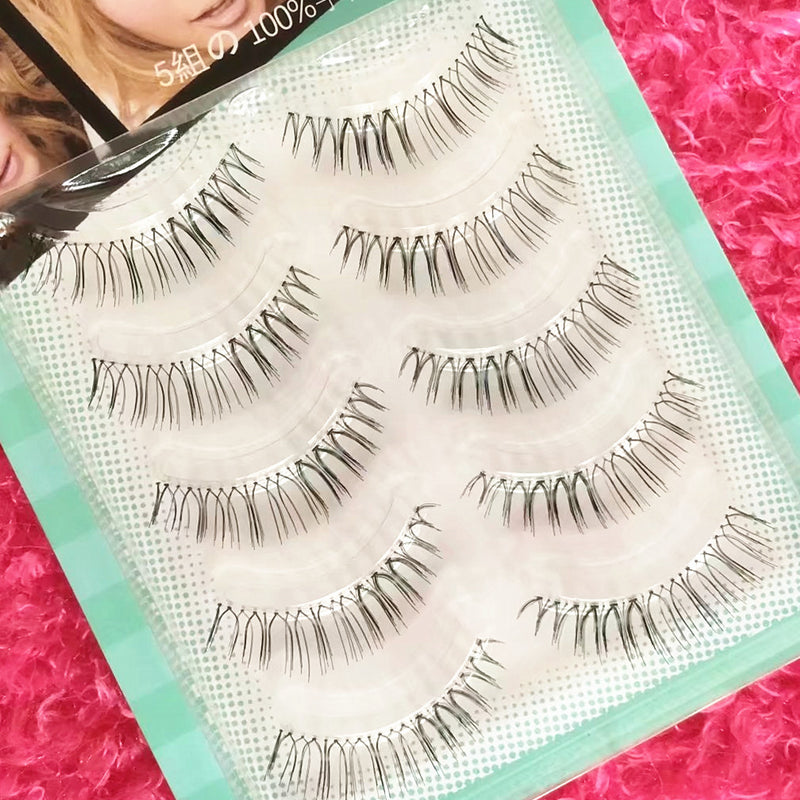 Japan Top seller 3D False eyelashes 5 Pairs (Natural) - Ohmykitty Online Store