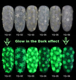 Glow in the Dark Nails Sequins - Ohmykitty Online Store