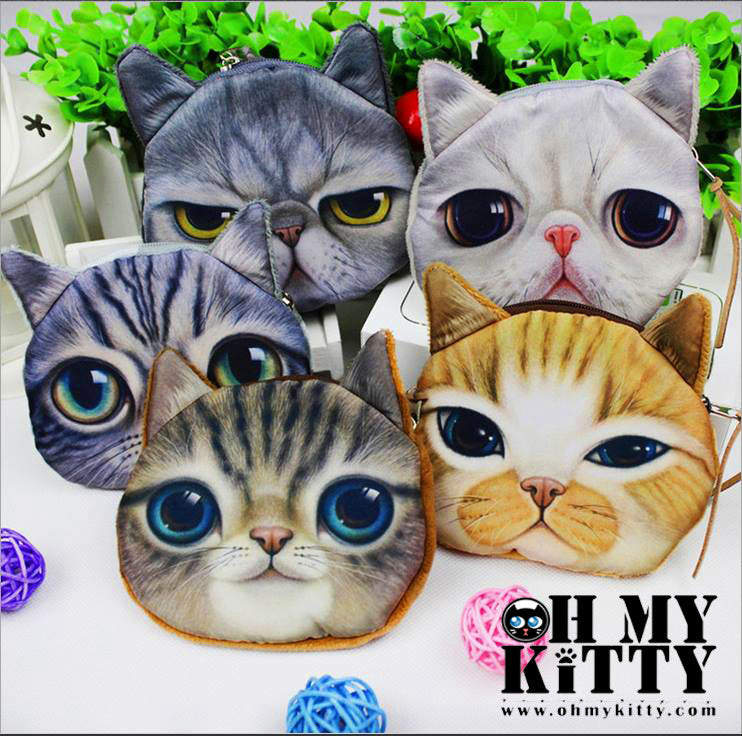 X-dolls Cat Coin Zipper Pouch (HOT) - Ohmykitty Online Store