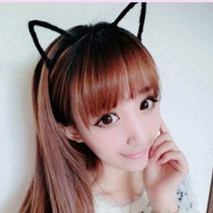 Cat Ear's Outliner Hairband (black) - Ohmykitty Online Store