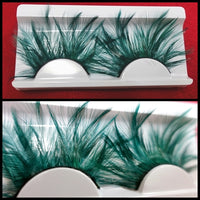 Green Light Feather Eyelashes (Halloween / Stage effect)