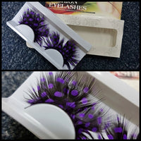 Purple Dots Feather Eyelashes (Halloween / Stage effect) - Ohmykitty Online Store