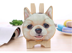 Dog Coin Zipper Pouch (Pomeranian)
