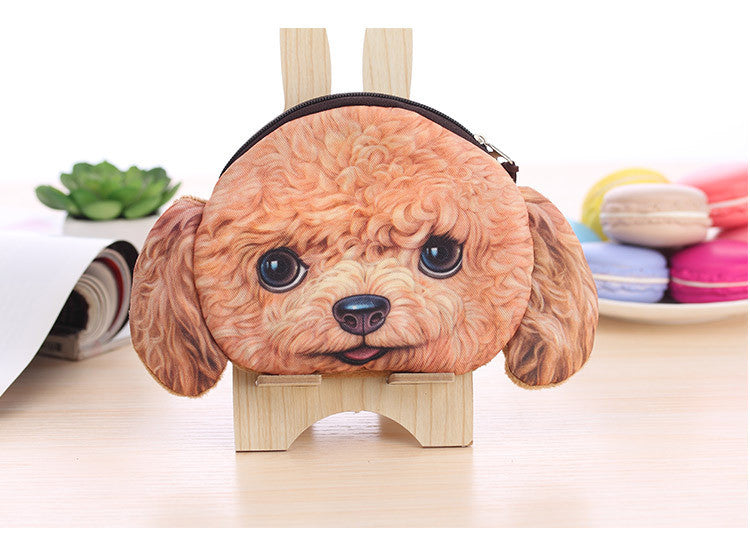 Dog Coin Zipper Pouch (Poodle)