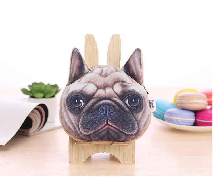 Dog Coin Zipper Pouch (Pug) - Ohmykitty Online Store