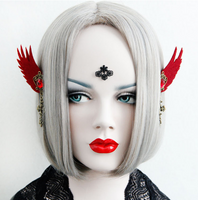 Red Gothic Demon Earcuff - Ohmykitty Online Store