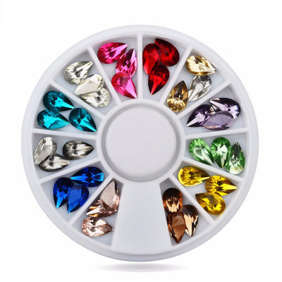 12 Colors Nail Art Rhinestones (WaterDrop Shape) - Ohmykitty Online Store