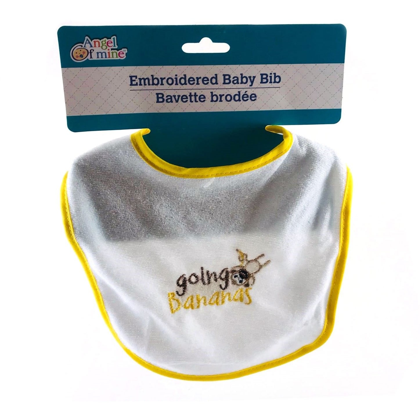 Angel of Mine Embroidered Baby Bib - Going Bananas