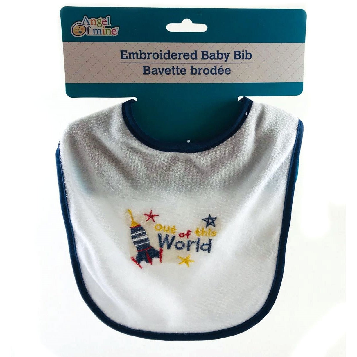 Angel of Mine Embroidered Baby Bib - Out of This World