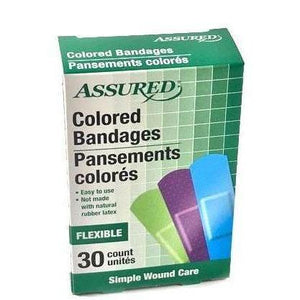 Assured Neon Colored Bandages 30 count