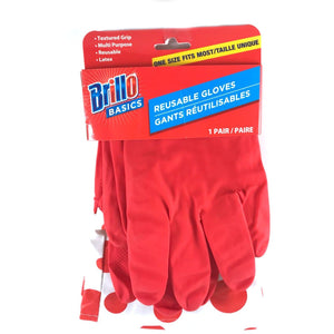 Brillo One Size Fits Most Reusable Gloves - Red