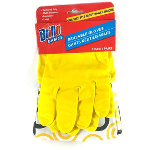 Brillo One Size Fits Most Reusable Gloves -  Yellow