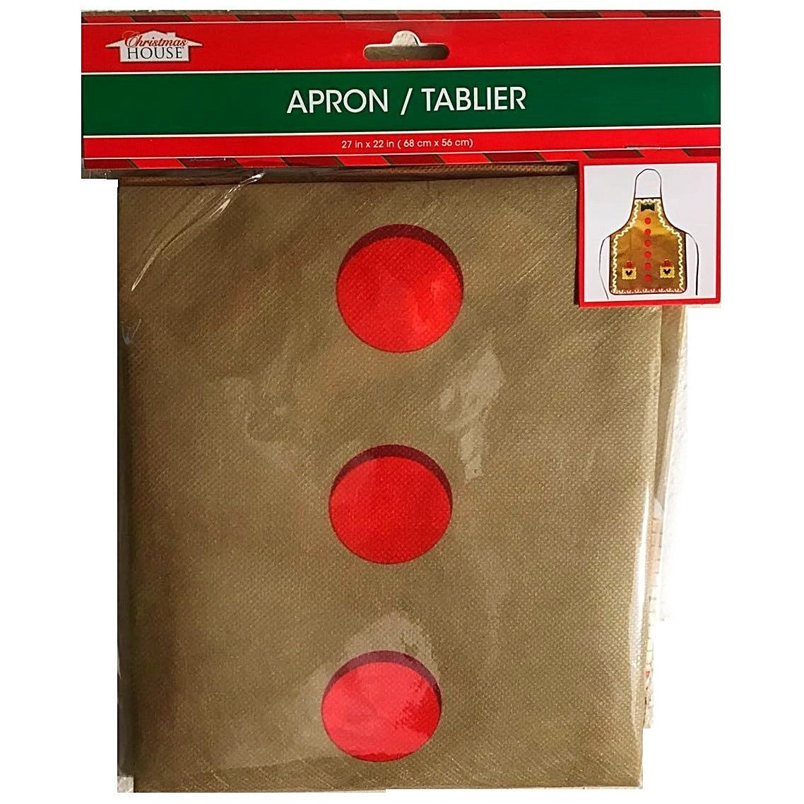 Christmas House Polyester Gingerbread Man Aprons