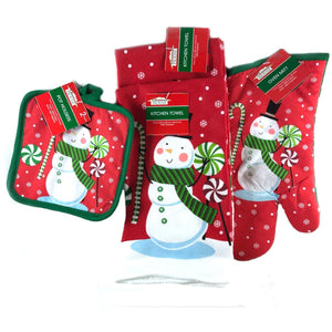 5-piece Christmas House Kitchen Linen Bundle