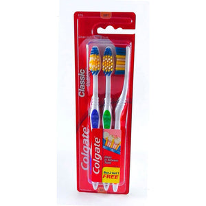 Colgate Classic Clean Soft-Bristle Toothbrushes 3 count packs