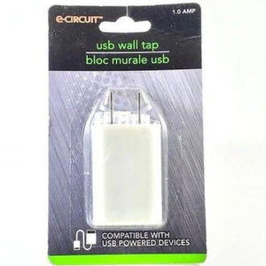E-circuit USB Wall Block - White