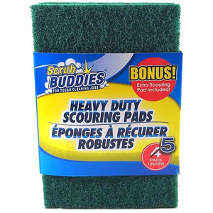 Heavy Duty Scrubbing Pads 5 count