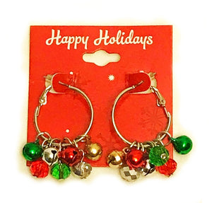 Jingle Bell Hoop Earrings