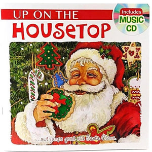 Holiday Story Books with Music CD Up On The Housetop
