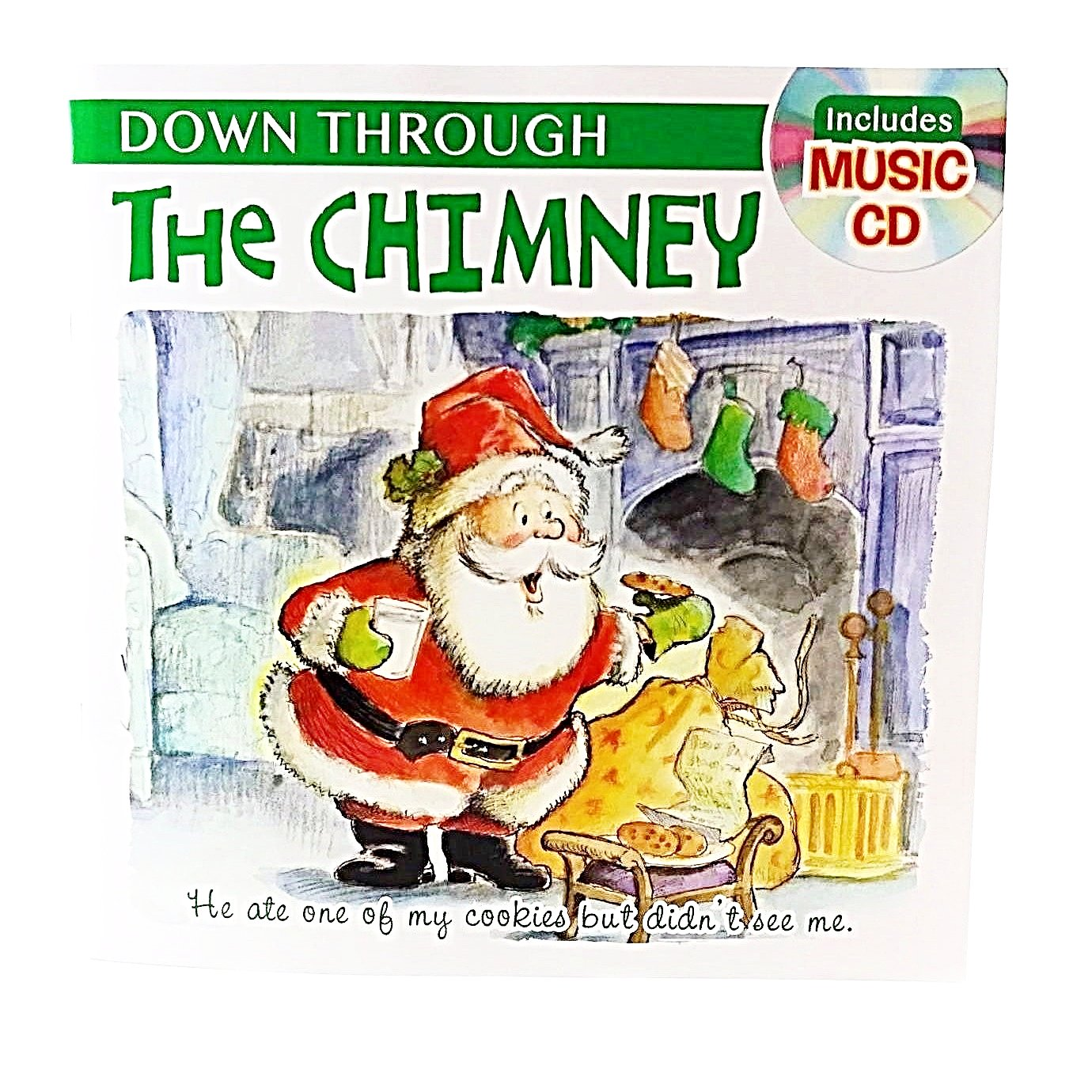 Holiday Story Books with Music CD Down Through The Chimney