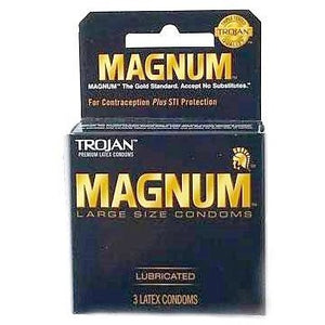 Trojan Magnum Large Size Condoms 3 count