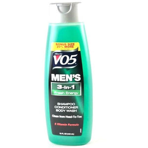 VO5 Men's 3-in-1 Fresh Energy Shampoo, Conditioner, & Body Wash, 15 oz