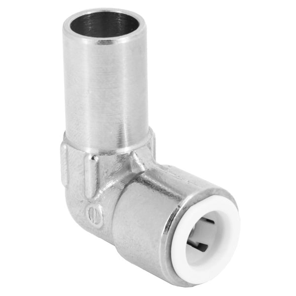 Push Fit 10mm Radiator Valve Elbow MxF - Plumbing and Heating Supplies UK