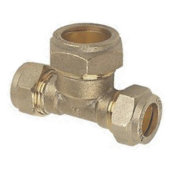 15mm x 15mm x 22mm Compression Reducing Tee - Plumbing and Heating Supplies UK