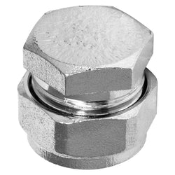 22mm Chrome Compression Stop End - Plumbing and Heating Supplies UK