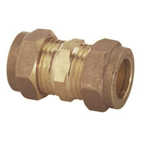 15mm Compression Straight Coupler - Plumbing and Heating Supplies UK