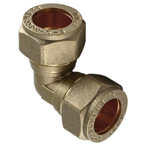 22mm Compression 90 Degree Elbow - Plumbing and Heating Supplies UK