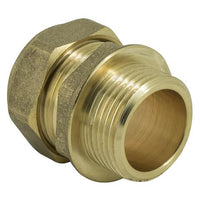 "1"" x 22mm Compression Straight Male Iron - Plumbing and Heating Supplies UK"