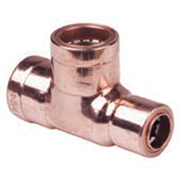 22mm x 15mm x 22mm Copper Push Fit Reducing Tees - Plumbing and Heating Supplies UK