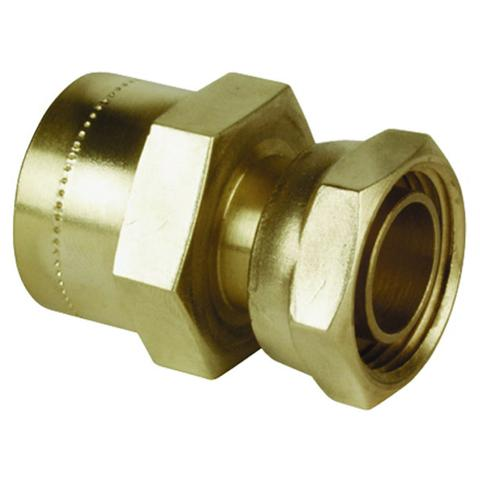 "1/2"" x 15mm Copper Push Fit Straight Tap Connector - Plumbing and Heating Supplies UK"