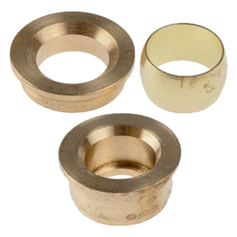 15mm x 12mm Compression 3 Part Reducing Set - Plumbing and Heating Supplies UK