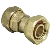 "3/4"" x 22mm Compression Straight Tap Connector - Plumbing and Heating Supplies UK"