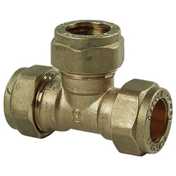 22mm Compression Equal Tee - Plumbing and Heating Supplies UK
