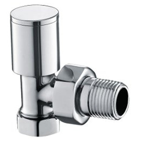 "Chrome Angled Radiator Valve - 1/2"" x 15mm - Plumbing and Heating Supplies UK"