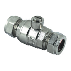 15mm Compression Chrome Full Bore Isolation Valves