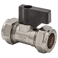 15mm Compression Chrome Handle Operated Isolation Valve - Plumbing and Heating Supplies UK